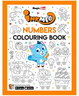 Inkmeo Numbers Colouring Book - English