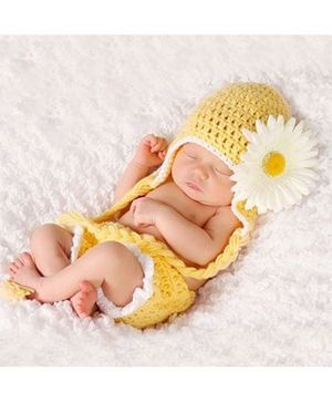 Babymoon Sunflower Designer New Born Baby Photography Props Set of 2 - Yellow