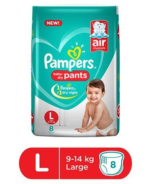 Pampers Pant Style Diapers Large - 8 Pieces