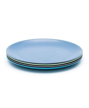 Bobo&Boo Bamboo Dinner Plates Set of 4 - Blue Green Grey