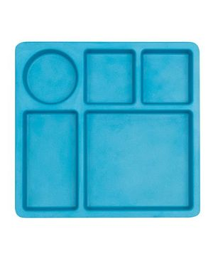 Bobo&Boo Bamboo 5 Sectioned Plate - Blue
