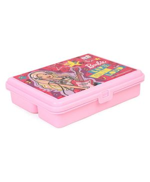 Barbie  Live Out Loud Lunch Box With Fork Spoon - Pink
