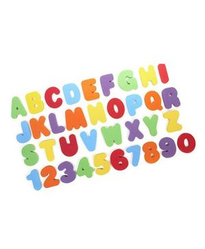 Syga  Letters and Numbers Foam Bath Toy Multicolour - 36 pieces