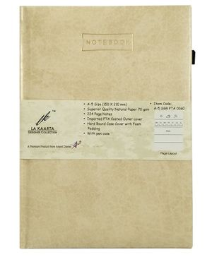 La Kaarta A5 Size Notebook Cream - 224 Pages