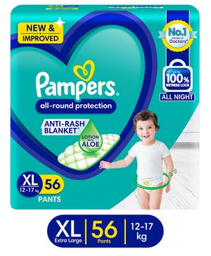 Pampers Pant Style Diapers Extra Large Size - 56 Pieces
