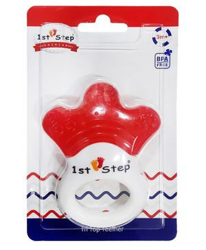 1st Step Tri Top Water Filled Teether - Red