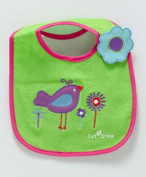 1st Step Bib Sparrow Patch - Green
