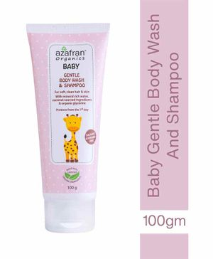 Azafran Baby Gentle Body Wash & Shampoo - 200 gm