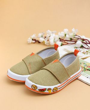 Cute Walk by Babyhug Canvas Shoes With Velcro Closure - Khaki