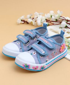 Cute Walk by Babyhug Casual Shoes Floral Design - Blue