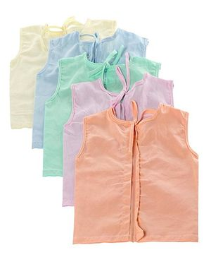 Tinycare Sleeveless Vests Set of 5 - Multicolour
