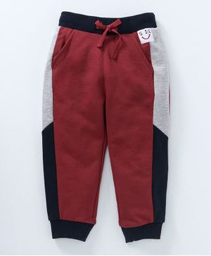 Babyoye Full Length Lounge Pant - Maroon & Black