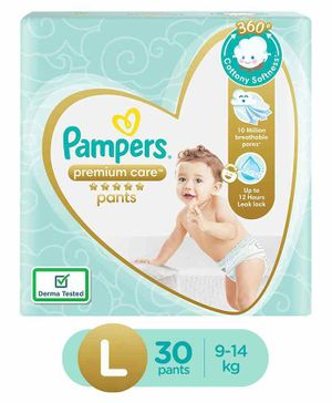 Pampers Premium Care Pant Style Diapers Large - 30 Pieces