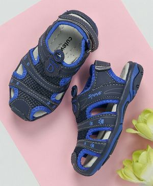 Cute Walk by Babyhug Close Toe Floaters - Blue
