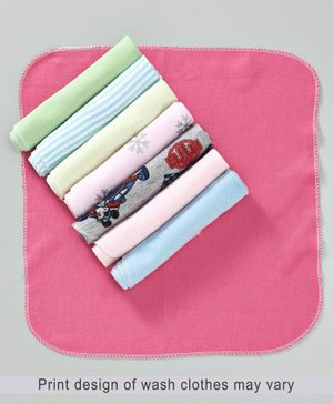 Babyhug Wash Clothes Pack of 8 - Multi Color
