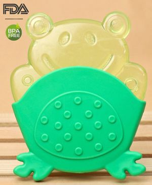 Babyhug Froggy Water Filled Teether With Holder - Green