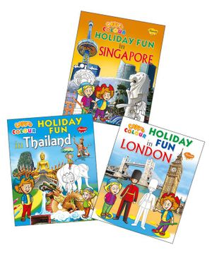 Sawan Holiday Fun Colouring Book Set of 3 - English