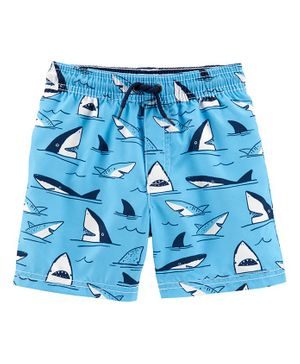 Carter's Shark Swim Trunks - Light Blue