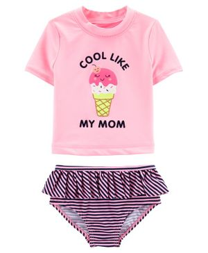 Carter's Ice Cream 2-Piece Rashguard Set - Pink