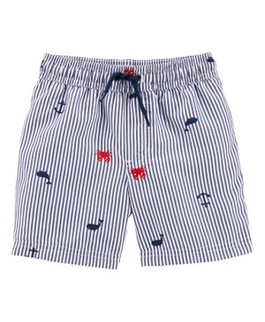 Carter's Crab Swim Trunks - Grey
