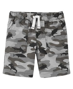 Carter's Camo Pull-On Poplin Shorts - Grey