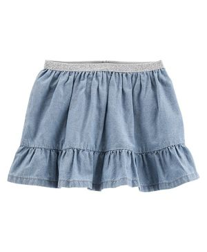 Carter's Ruffle Chambray Skort - Blue