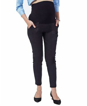 Nuthatch Maternity Work Pants - Black