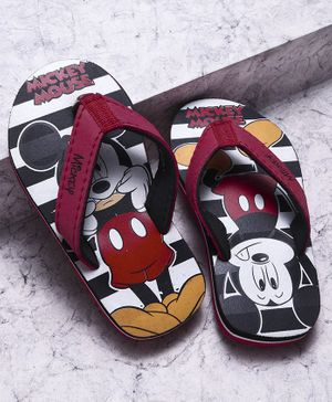 Mickey Mouse And Friends Flip Flops - Red Black