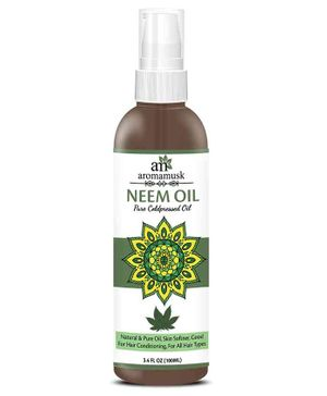 AromaMusk Organic Pure Cold Pressed Neem Oil - 100 ml