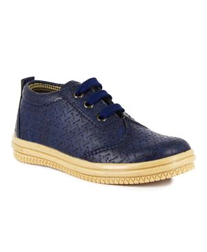 Teddy Toes Lace Up Shoes - Navy Blue