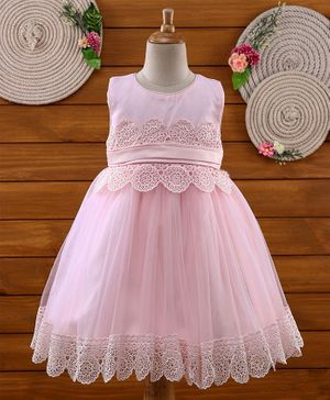 Amigo 7 Seven Lace Work Sleeveless Dress - Pink