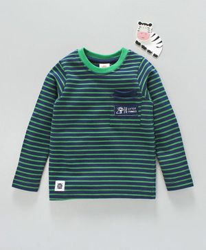 Scampy Striped Full Sleeves Tee - Green