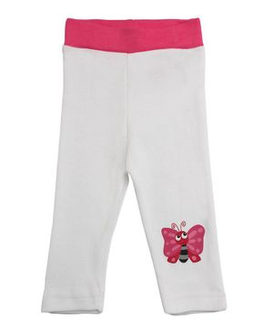 Morisons Baby Dreams Full Length Lounge Pant Butterfly Print - Pink White