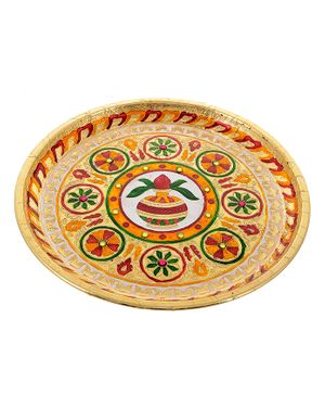 Little Palz Kalash Design Thali - Multicolor