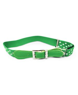 Kid-O-World Stretchable Belt With Stars Print - Green