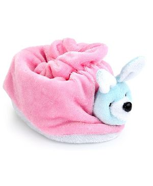 Morisons Baby Dreams Rabbit Appliqued Baby Booties (Color May Vary)
