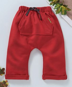 marshmallows Full Length Diaper Leggings - Red