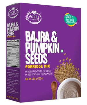 Early Foods Organic Bajra & Pumpkin Seeds Porridge Mix - 200 gram
