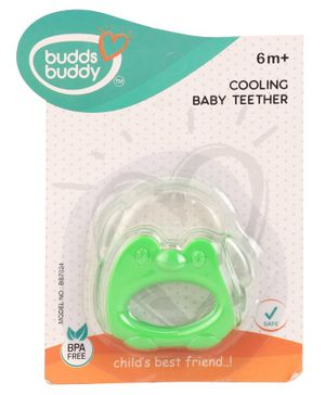 Buddsbuddy Cooling Baby Teether Froggy Shape - Green