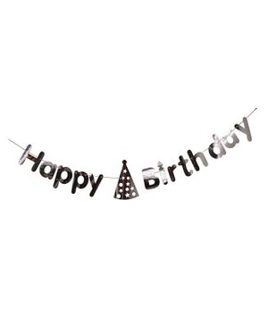 Shopperskart Happy Birthday Banner - Silver