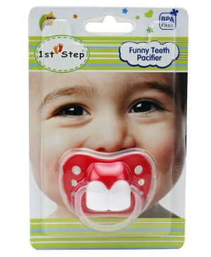 1st Step Funny Teeth Pacifier - Red