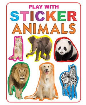 Play With Sticker Animals Book - English