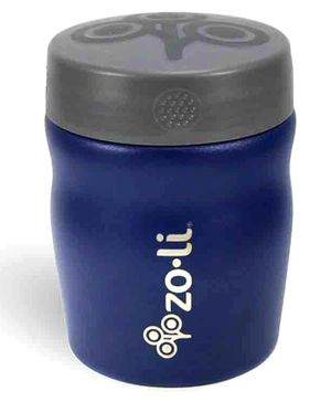ZoLi Pow Dine Stainless Steel Insulated Food Jar Navy Blue - 355 ml
