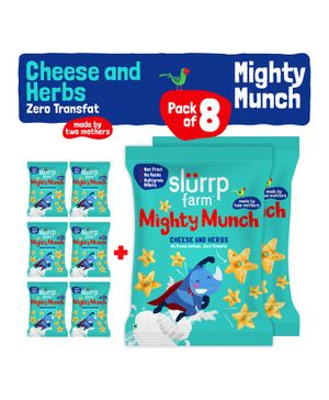 Slurrp Farm Mighty Munch Cheese & Herbs - Pack of 8