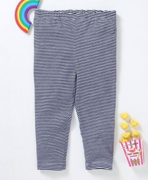 Beebay Full Length Striped Leggings - Navy Blue
