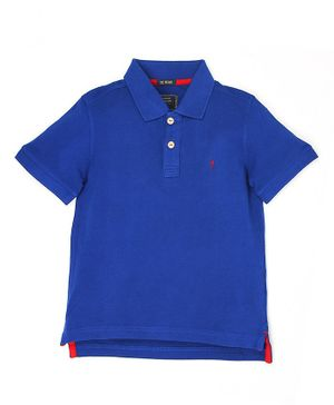 Indian Terrain Full Sleeves Solid T-Shirt - Blue