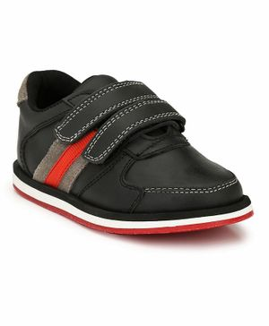 Tuskey Leather Jogger Shoes - Black