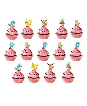Party Propz Pokemon Cupcake Toppers - 14 Pieces