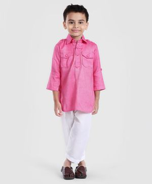 Exclusive from Jaipur Kurta & Pajama Set - Pink