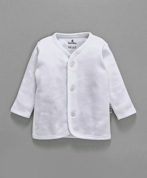Child World Full Sleeves Vest - White